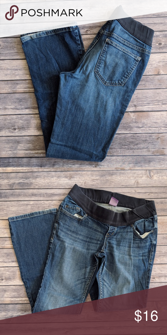 47d4bda60feda Old Navy Maternity Low Rise Boot Cut Jeans Old Navy Maternity Low Rise Boot  Cut Jeans Worn for a few months 31.5 inch inseam Cotton and spandex Old Navy  ...