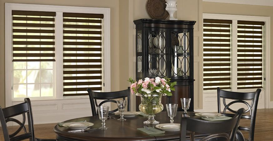 Dining Room Window Blinds 3 Day Blinds Horizontal Sheer Shades  Lightweight Shades With