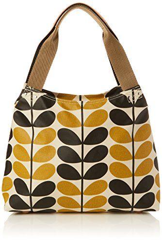 Orla Kiely Stem Check Print Classic Zip Shoulder Bag 5214386976186
