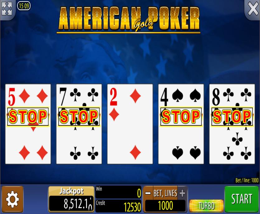 American Poker Gold Online Slot American poker, Video
