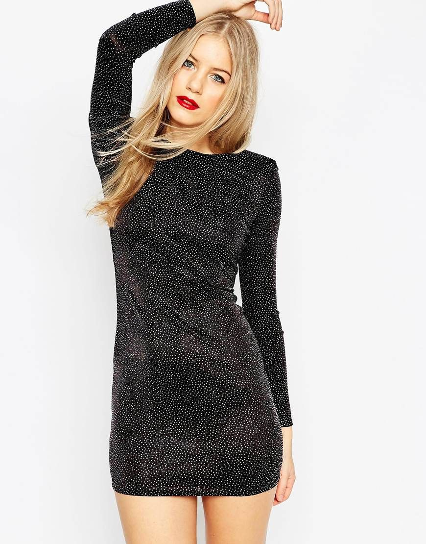 Body-Conscious dress by ASOS Collection Stretch jersey Textured