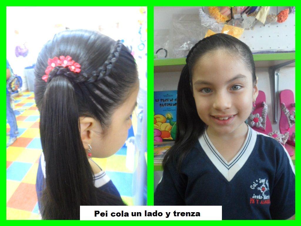 Cola Un Lado Y Trenza Girl Hairstyles Hair Styles Hair Wrap