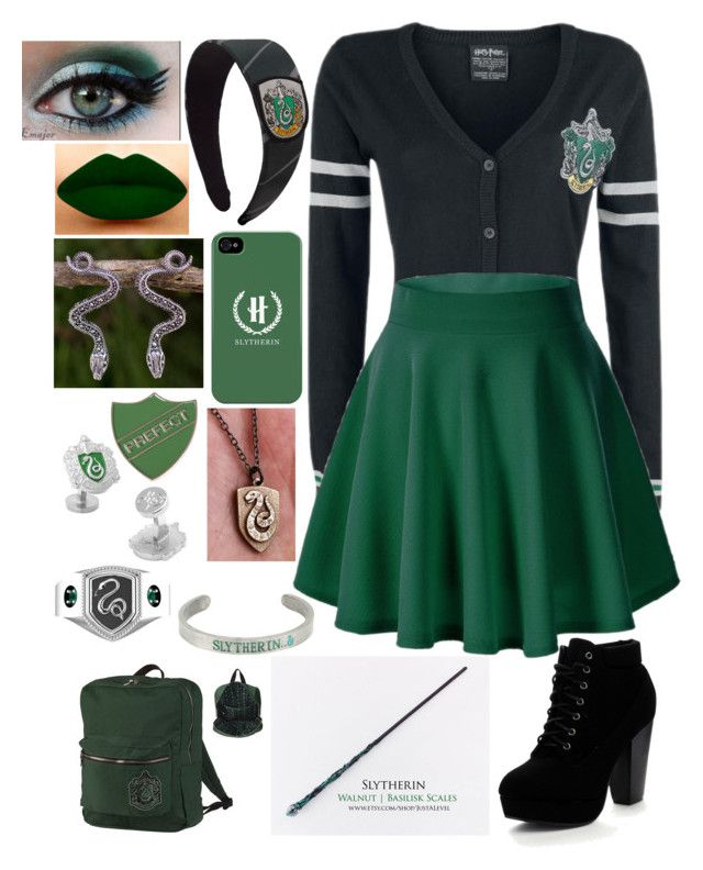"""""""slytherin"""" By A-girl-has-no-username Liked On Polyvore"""
