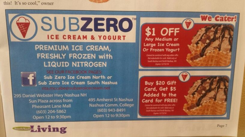 check out the magazine south nashua living for these coupons must bring a physical coupon into the store valid at both locat premium ice cream catering food pinterest