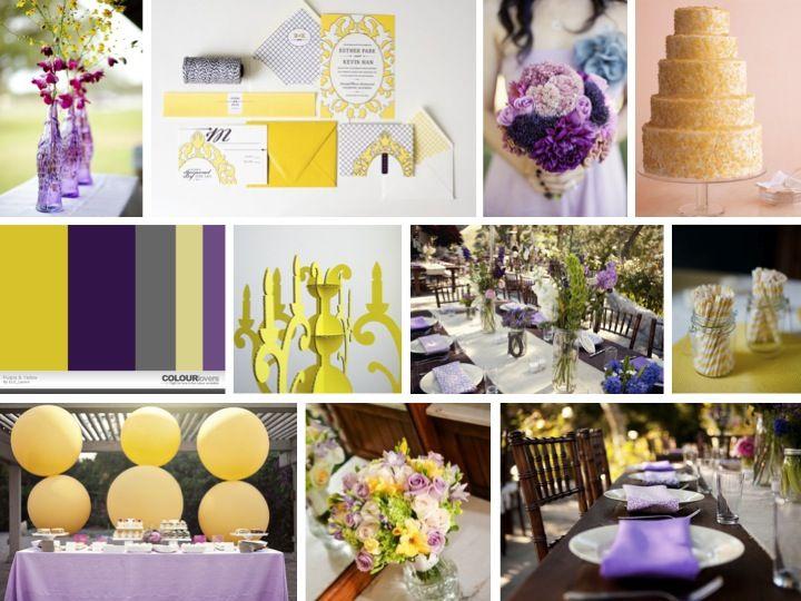 Purple And Yellow Wedding