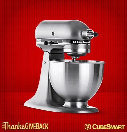 I Entered To Win A Kitchenaid Stand Mixer In The Cubesmart Thanksgiveback Sweepstakes