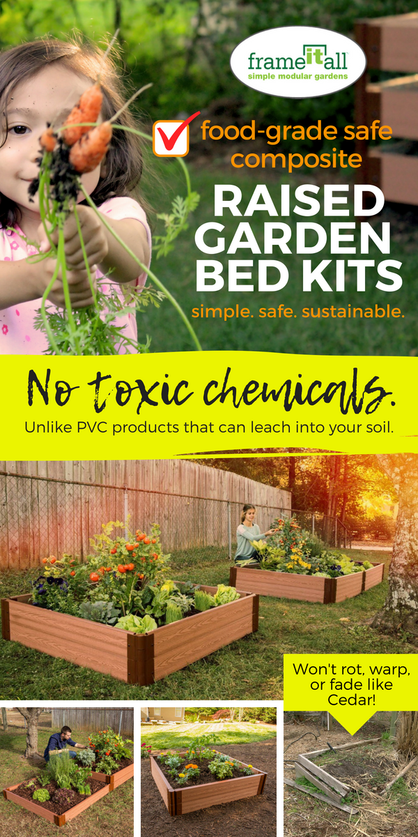Food Grade Safe Raised Garden Beds By Frame It All Won T Rot Warp Or Fade Like Cedar Won T Leach Tox Garden Beds Raised Garden Vegetable Garden Raised Beds