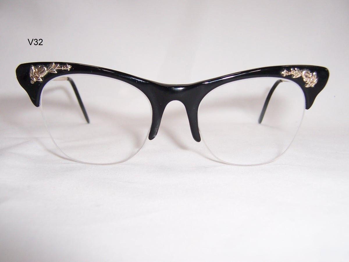 ce57ff893e Vintage 1940 50s Gold filled and black acetate ladies spectacle frame- Vintage  Glasses - Vintage spectacles - Dead Men s Spex