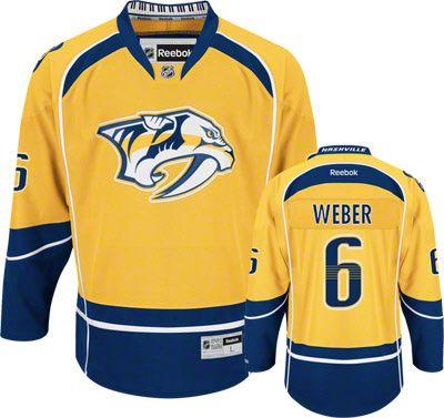 2e60e5c54 Nashville Predators Shea Weber 6 Gold Authentic Jersey Sale