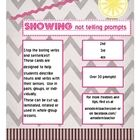 Show Not Tell Writing Prompts Free