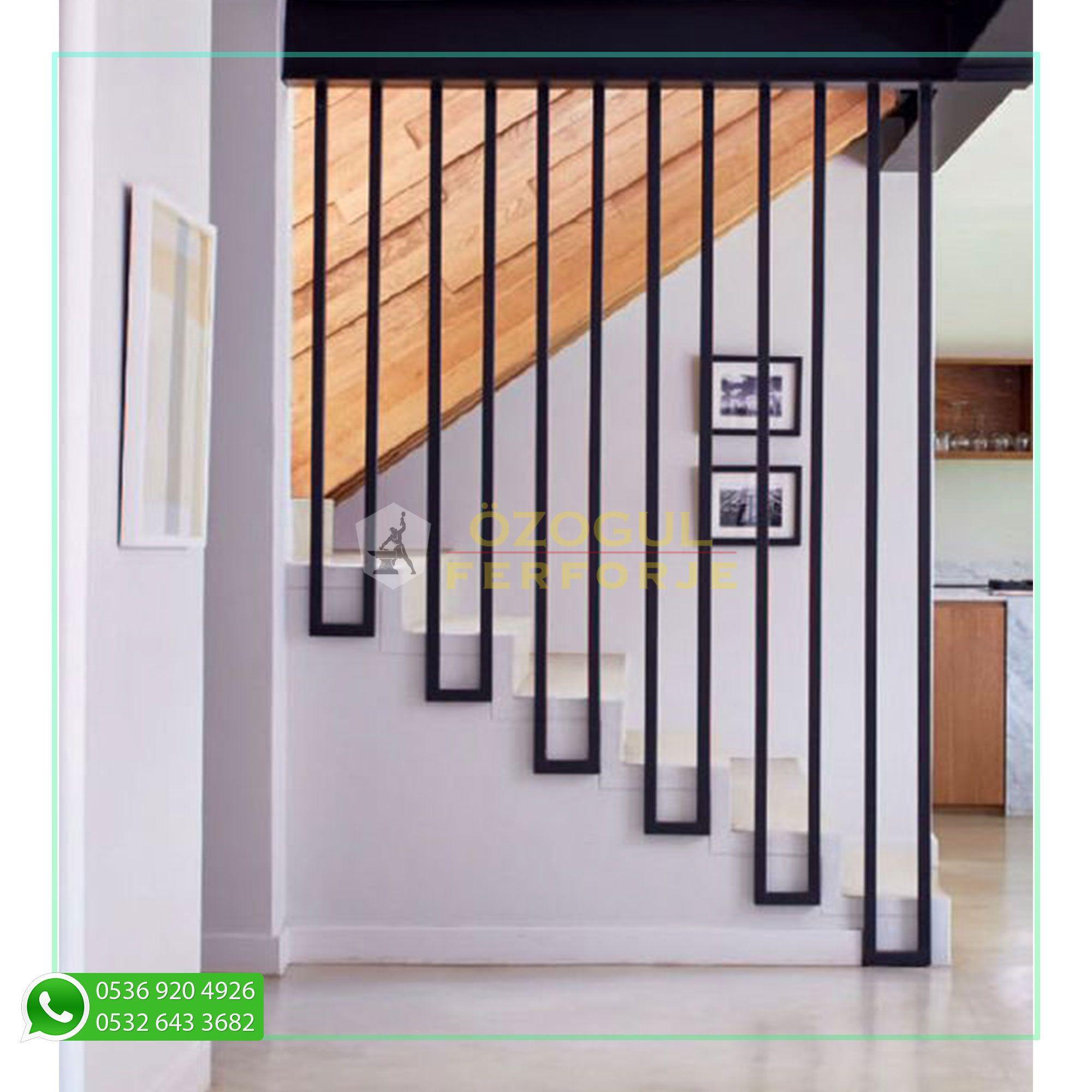 Photo of Ferforje Özel Tasarım Ara Bölme / Wrought Iron Special Design Stairs Screen