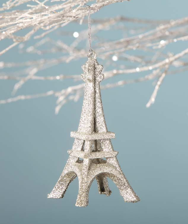Sparkly Eiffel Tower Ornament Christmas things I love Pinterest