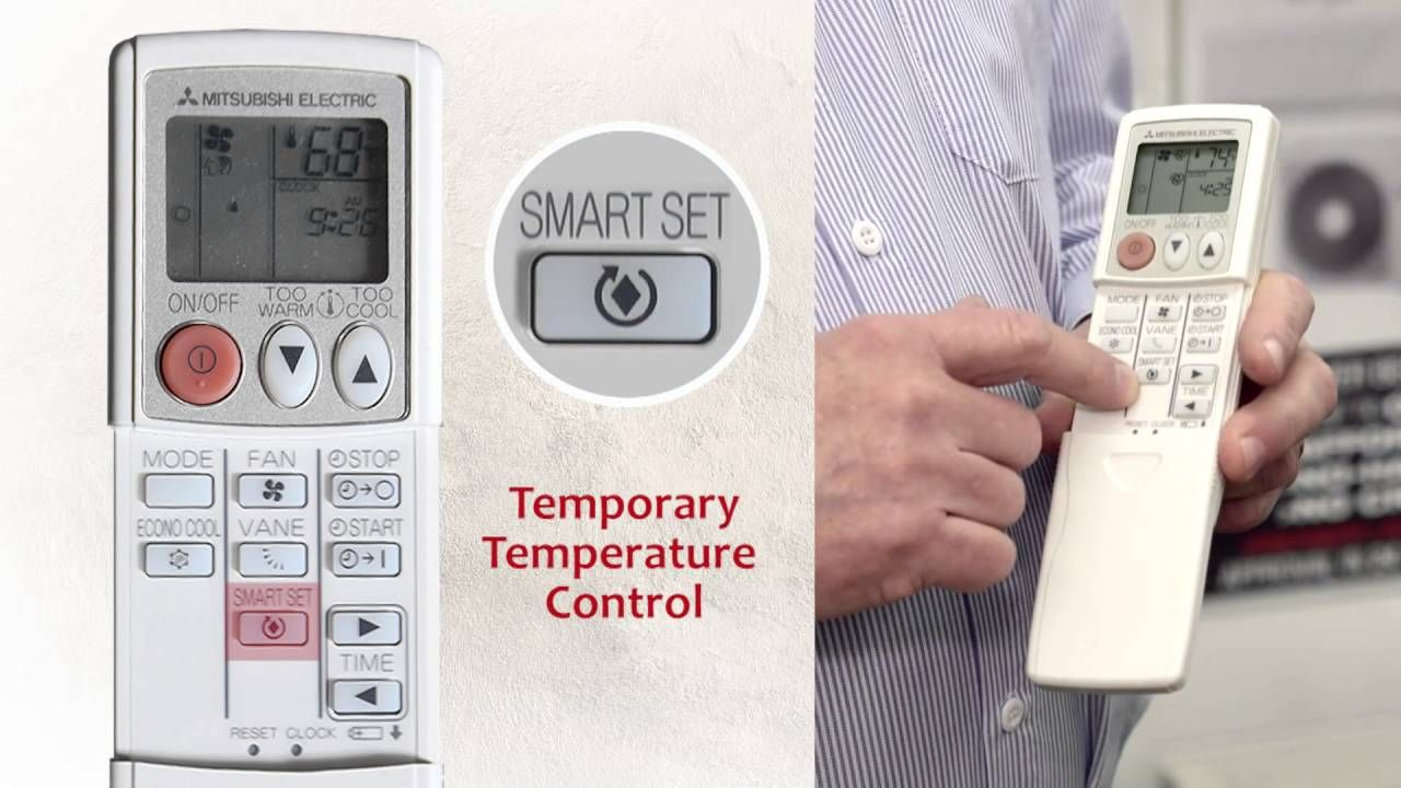 Mitsubishi Split System Air Conditioner Remote Control