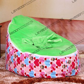 Baby Bean Bag Chair With 2pcs Green Up Cover Baby Seat Cover Baby