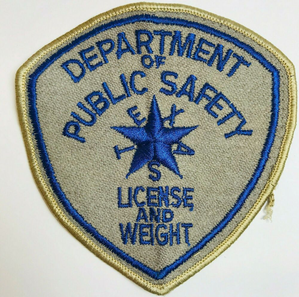 Texas Department Of Public Safety DPS License And Weight