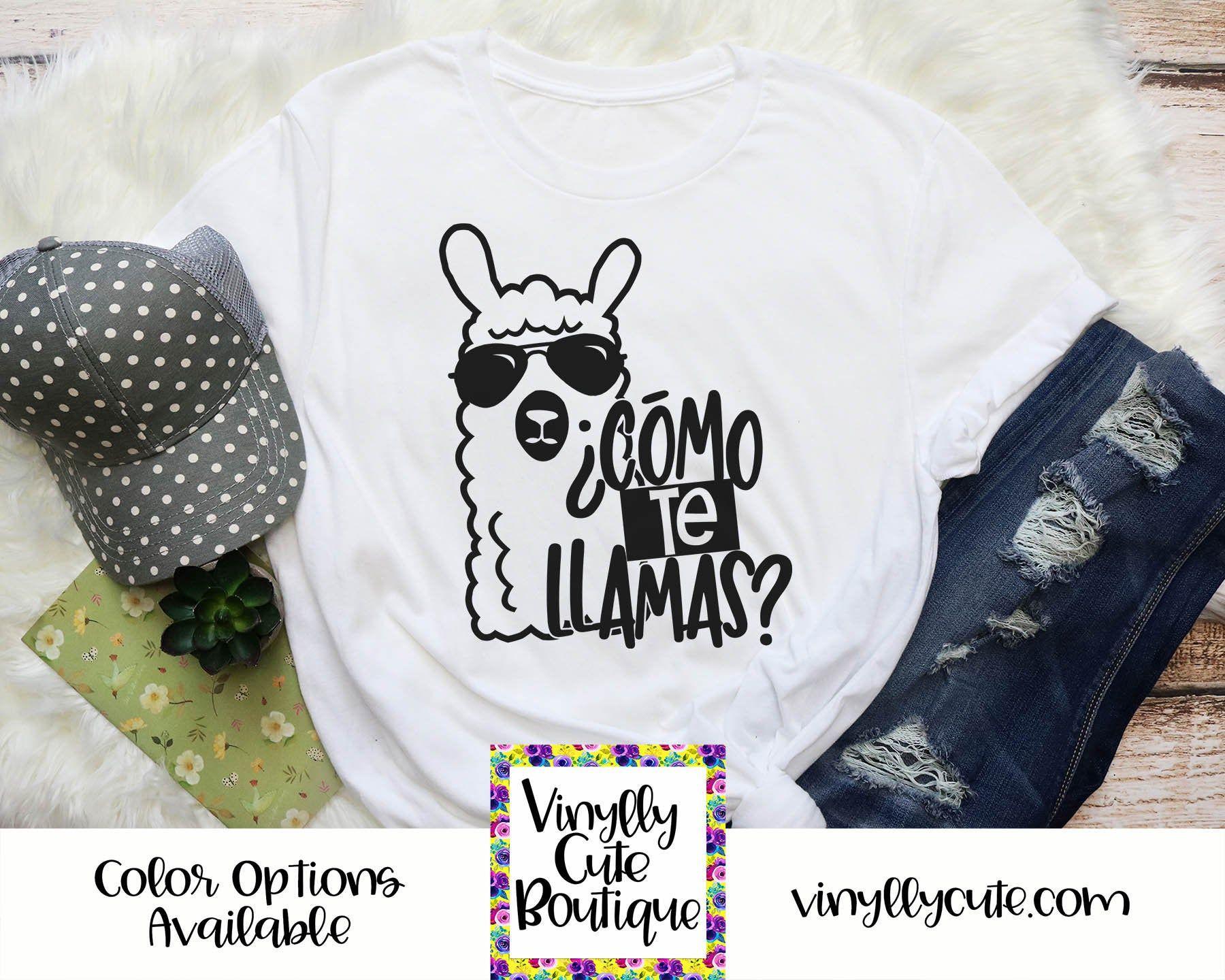 Como Te Llamas Shirt Spanish Teacher Shirt Llama Tee