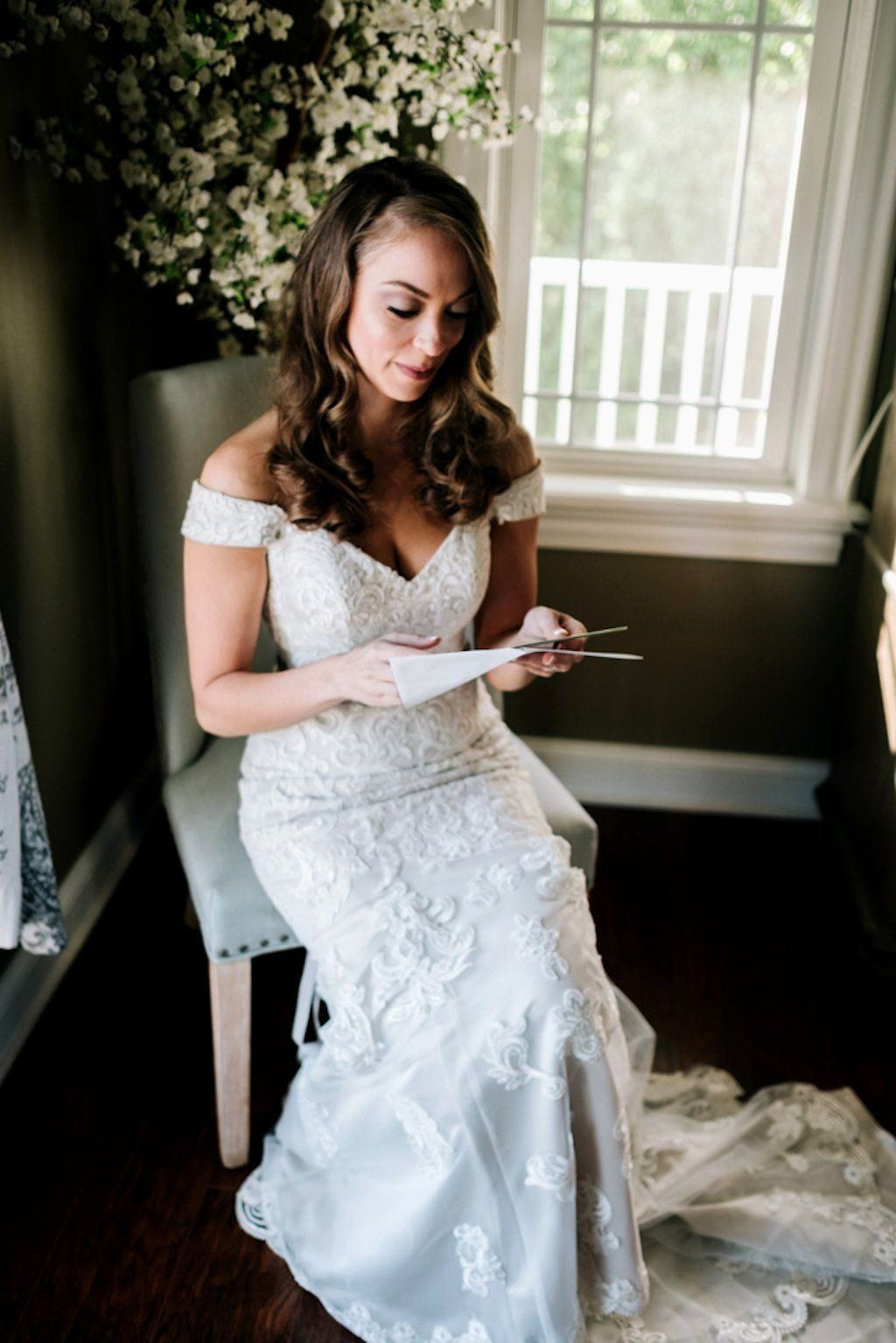 Rustic Chic Wedding Dress Beautiful Lilac and Gray Rustic