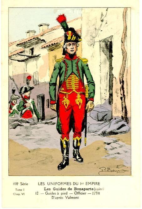 Uniforme de guides de Bonaparte en Egypte. Uniform of Bonaparte's Guide in Egypt.