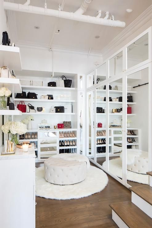 Strange This Large White Glam Walk In Closet Boasts Exposed Alphanode Cool Chair Designs And Ideas Alphanodeonline