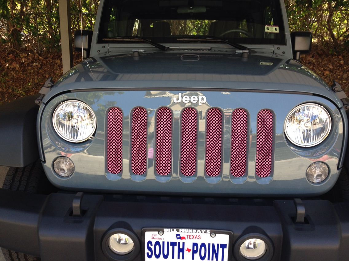 Pink Jeep Wrangler Pink Grill