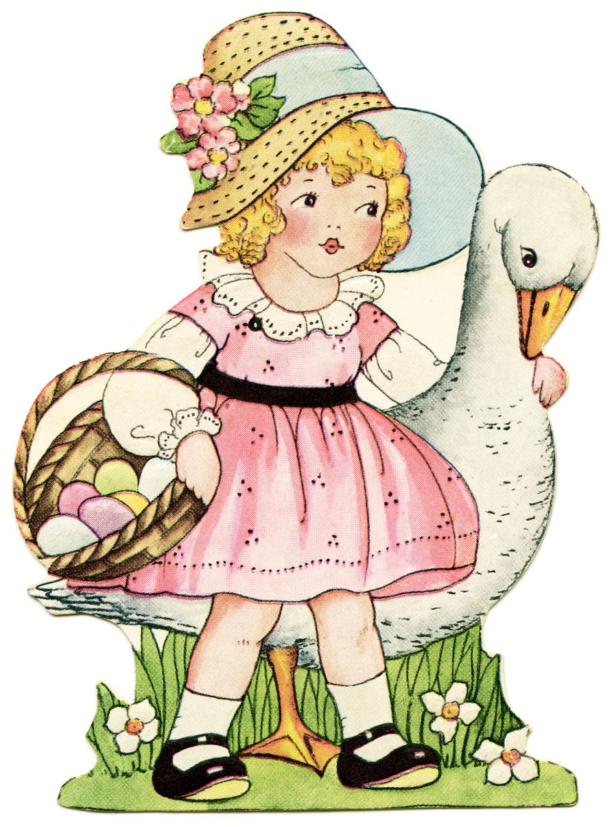 free whitney made easter clipart girl and goose easter pinterest ostern. Black Bedroom Furniture Sets. Home Design Ideas