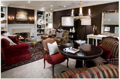 Candice Olson Caroll And Paul S Living Room Themed Rooms Dark