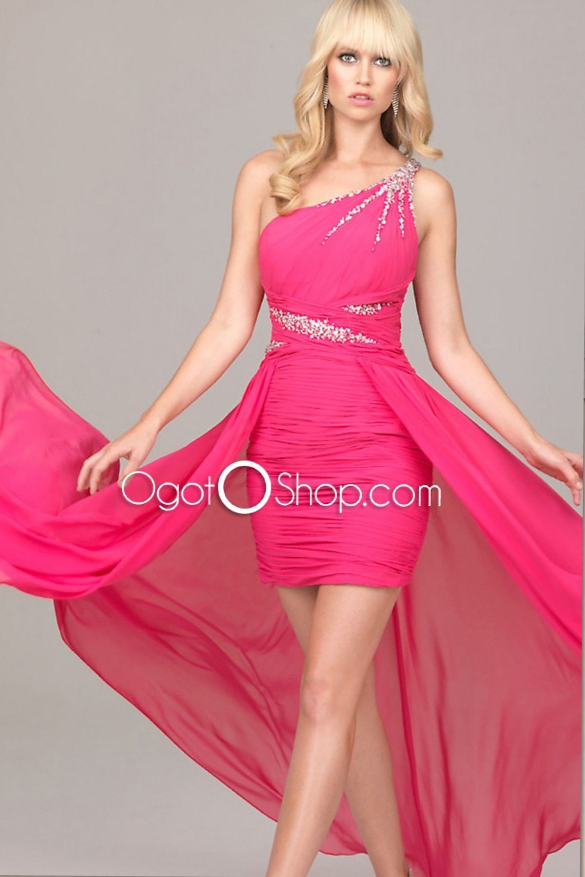 Pink short in front long in Back dress | Prom dresses | Pinterest