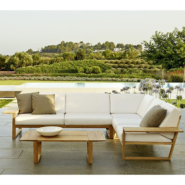 Point Lineal Sectional Sofa Outdoor Teak Lounge Homeinfatuation Com Modern Patio Furniture Contemporary Garden Furniture Garden Sofa