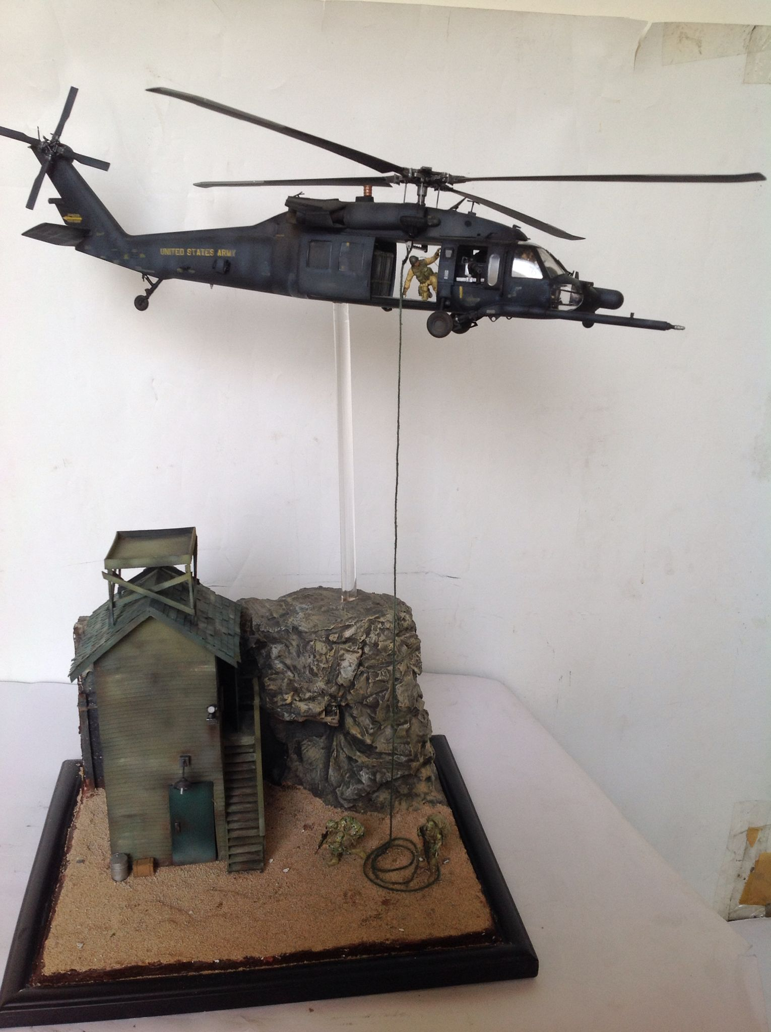 1 35 diorama blackhawk deploy us soldier scout by for Scale model ideas