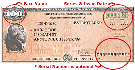 Savings bond maturity value