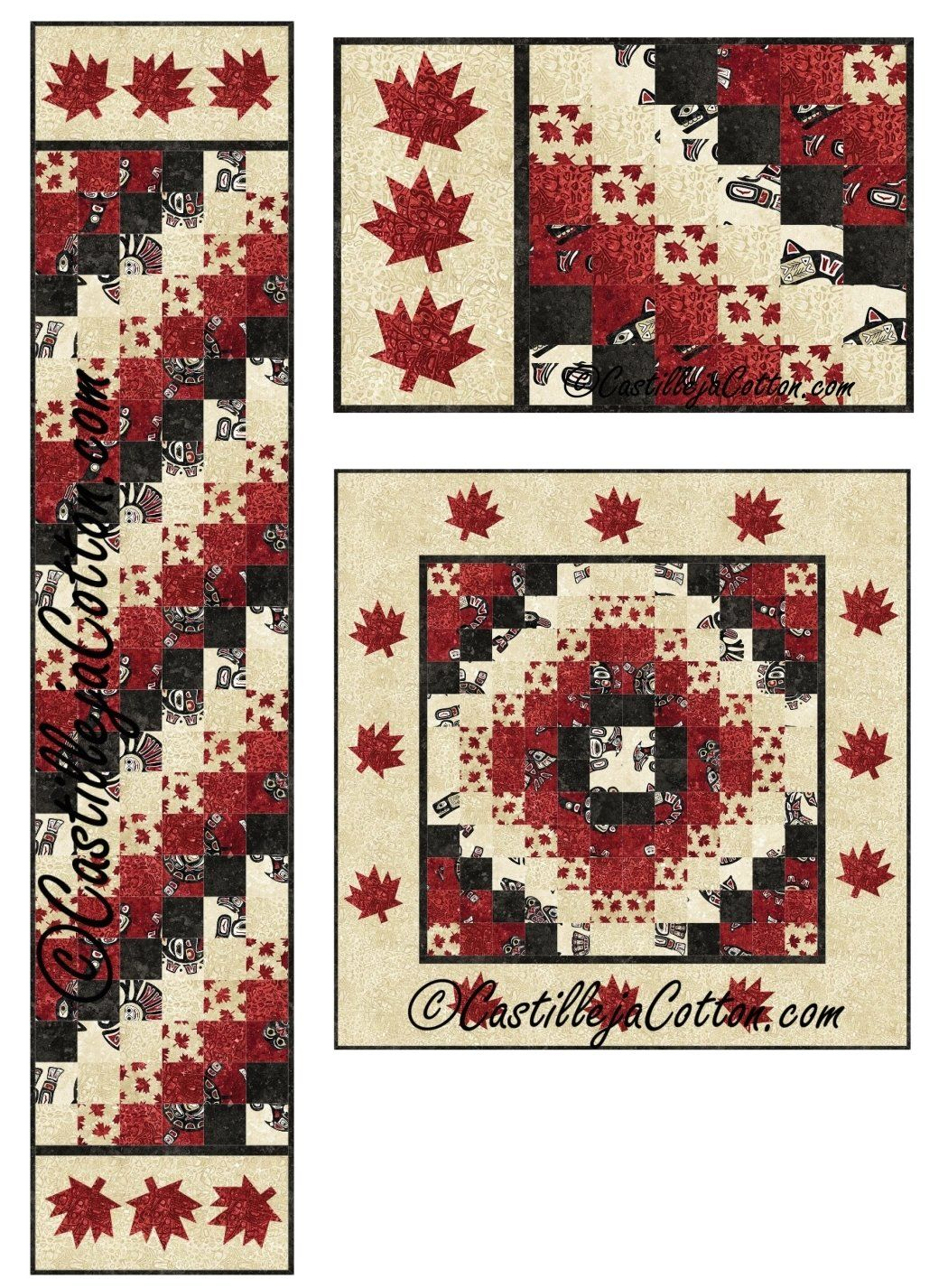 Oh Canada Sixes Table Set Quilt Pattern Order Here Www