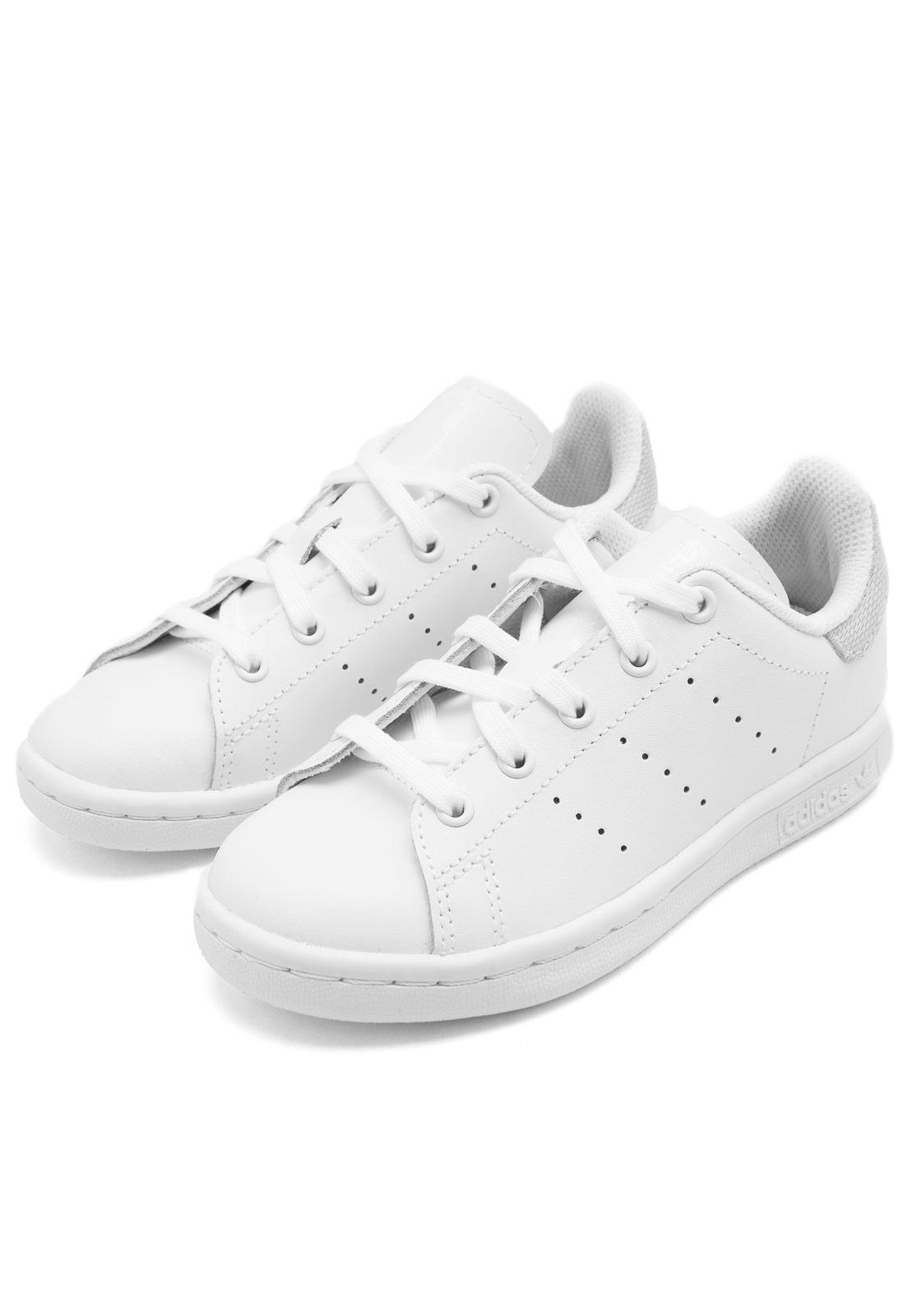 Tênis adidas Menina Stan Smith C Branco Tenis adidas