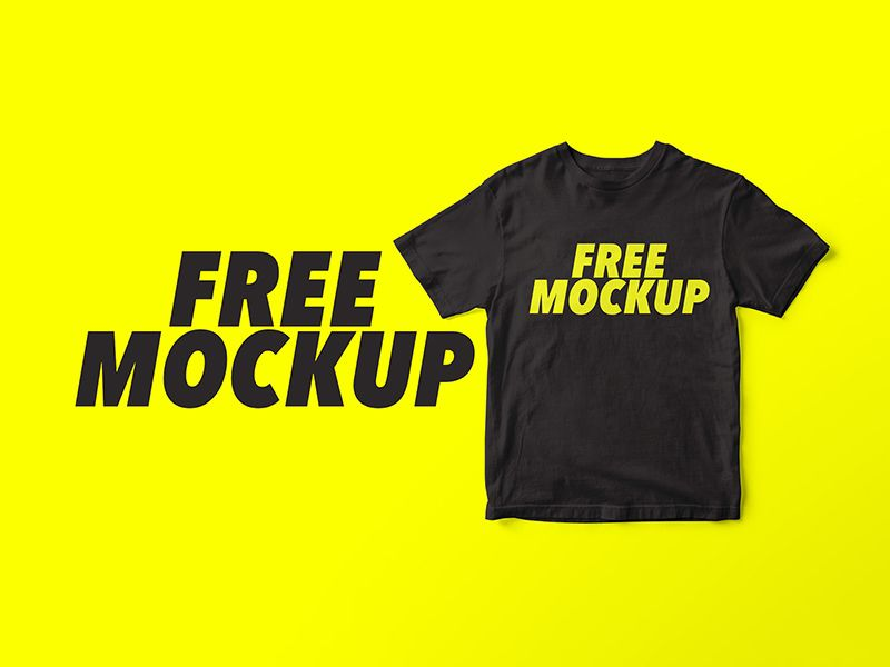 Download Simple Black T Shirt Mockup Free Download Shirt Mockup Tshirt Mockup Mockup Free Psd
