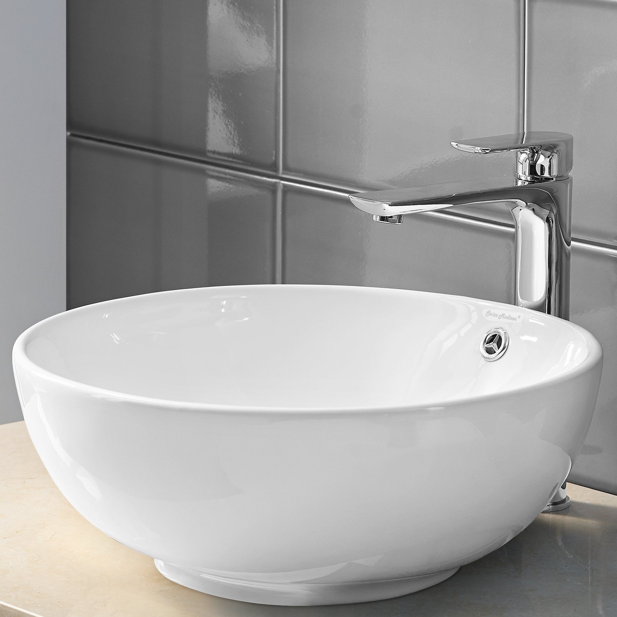 Plaisir Circular Vessel Bathroom Sink with Overflow | Products ...