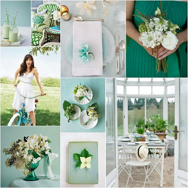13 Lush Spring Wedding Decorations To Bring To Life Your: Spring Wedding Colors: Emerald & Aqua #WilliamsSJ