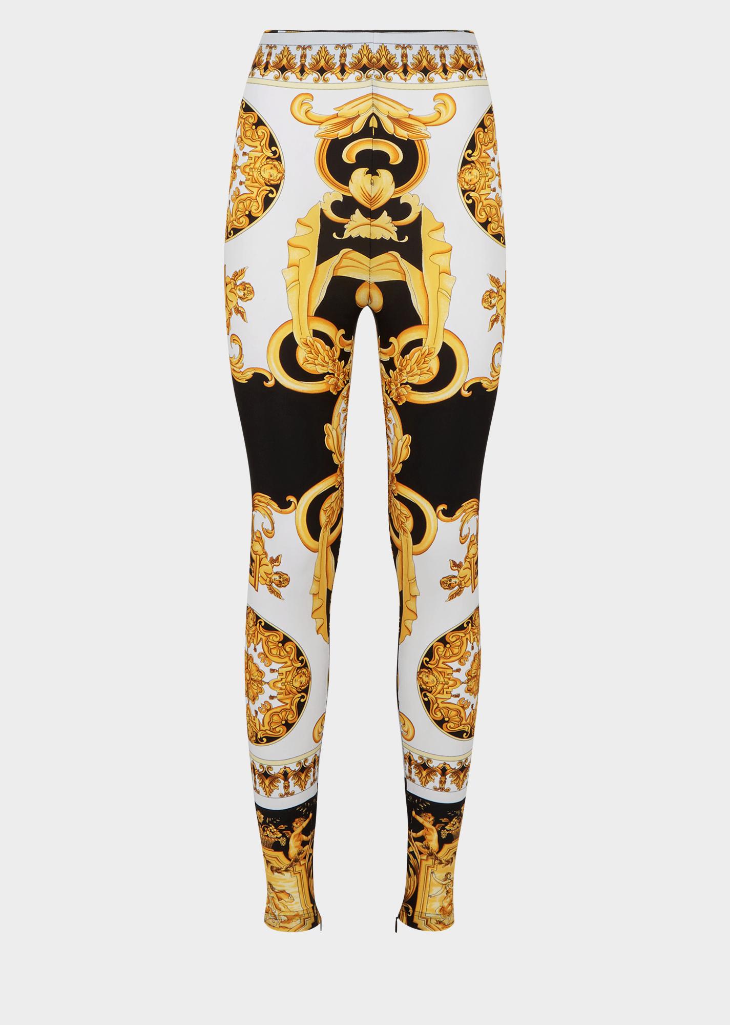 80a082a0b8 Versace - SS2018 | Barocco SS'92 Print Leggings | PANTS/SHORTS in ...