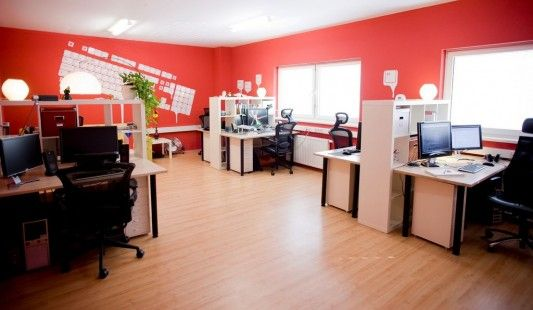 Commercial Office Design Ideas commercial office interior design commercial interior office design ideas Colorful Office Decorating Concept Design Ideas And Inspiration Office Remodeling Ideas Pinterest Offices Red Walls And Desk Areas