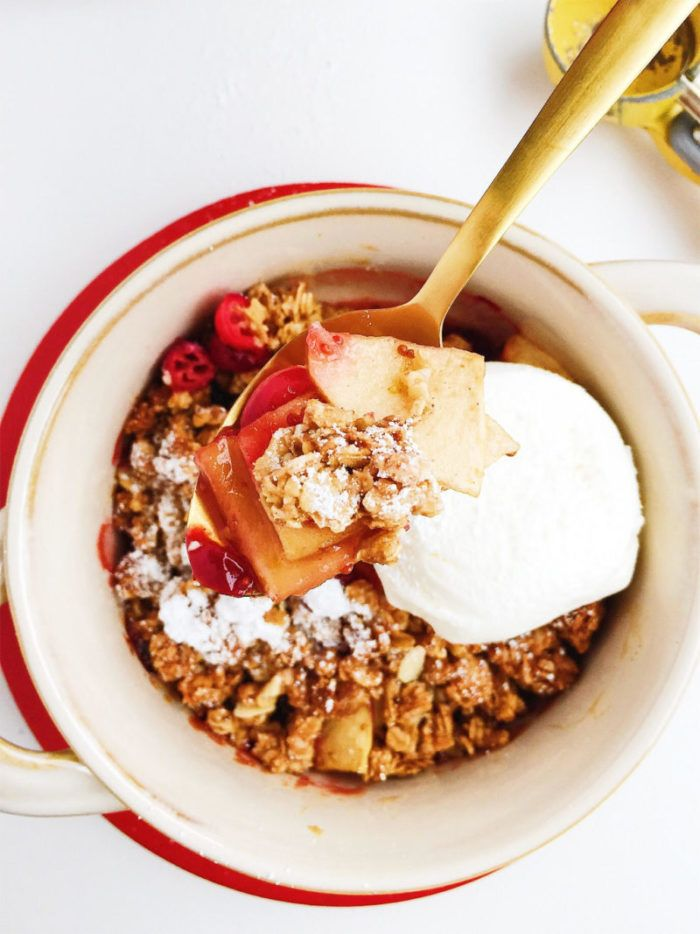 Apple Cranberry Granola Crisp Recipe Granola, Food, Crisp
