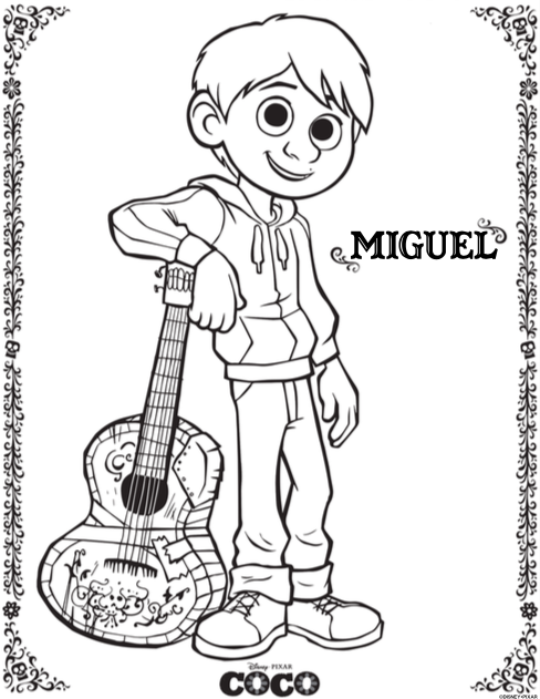 COCO coloring sheets! Featuring characters from the upcoming ...