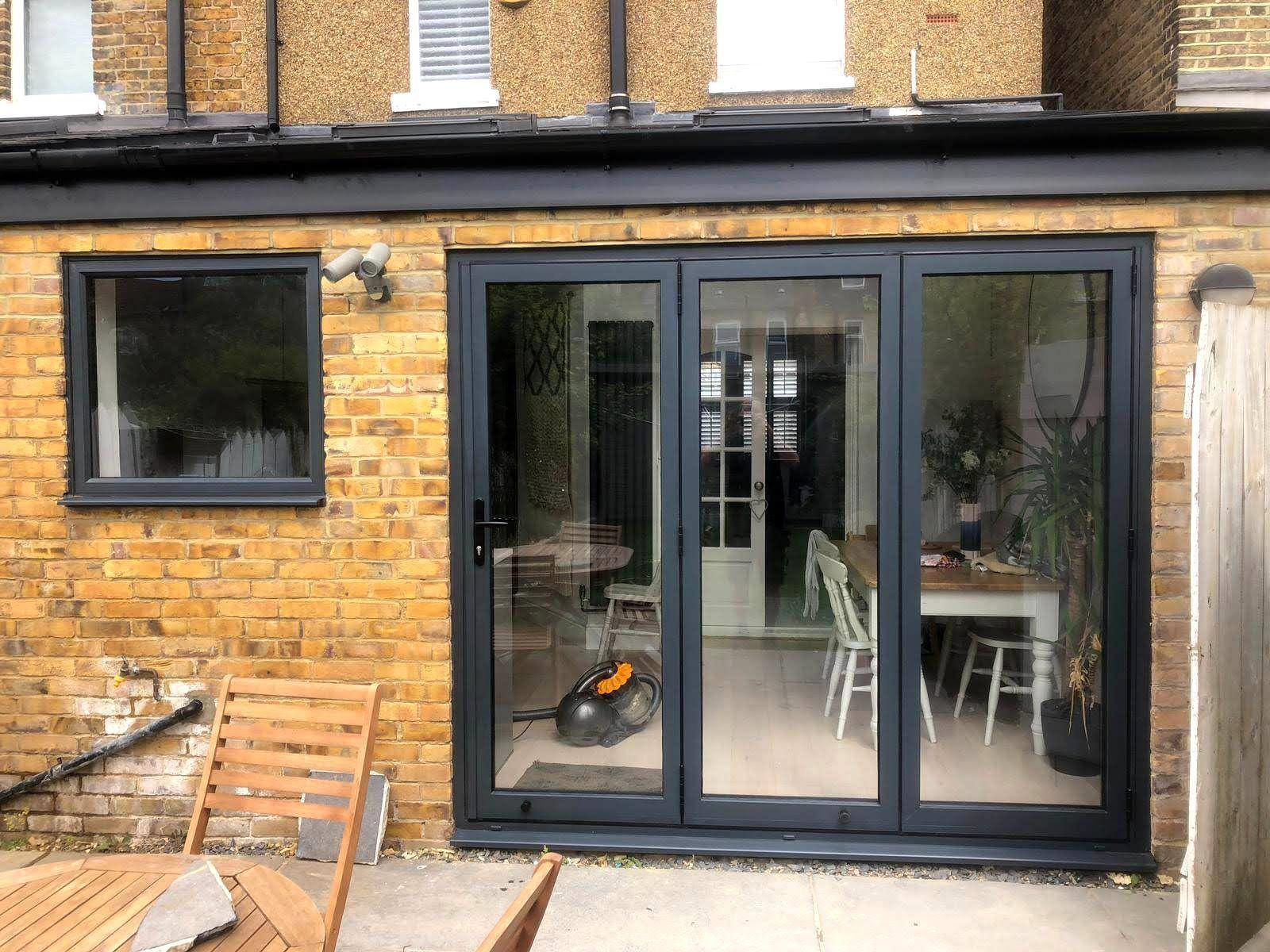 meet d22fb 170bd Three door Cortizo bifold door and top opening window, we do ...