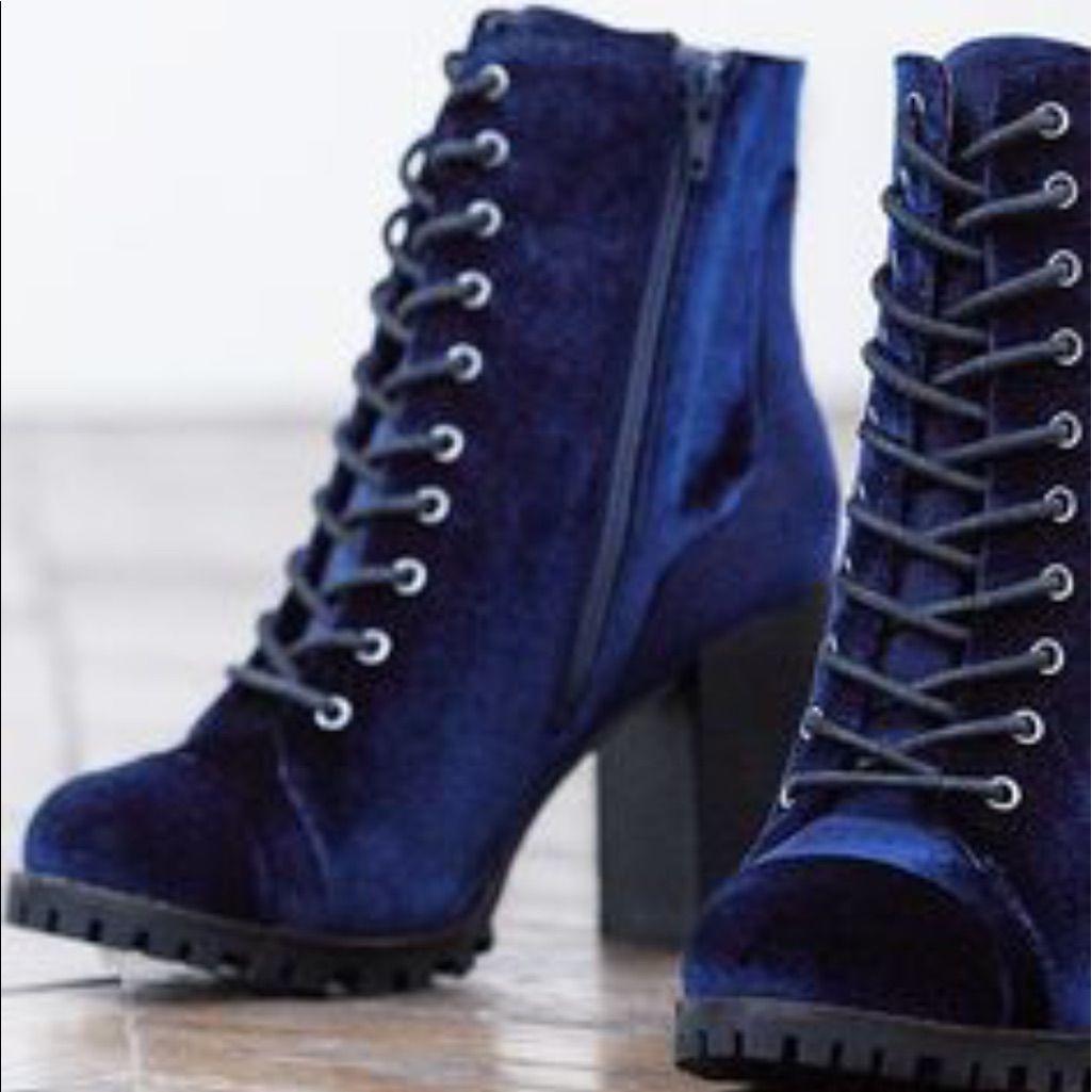 7260e57fe991 Report Blue Velvet Boots From Dsw.