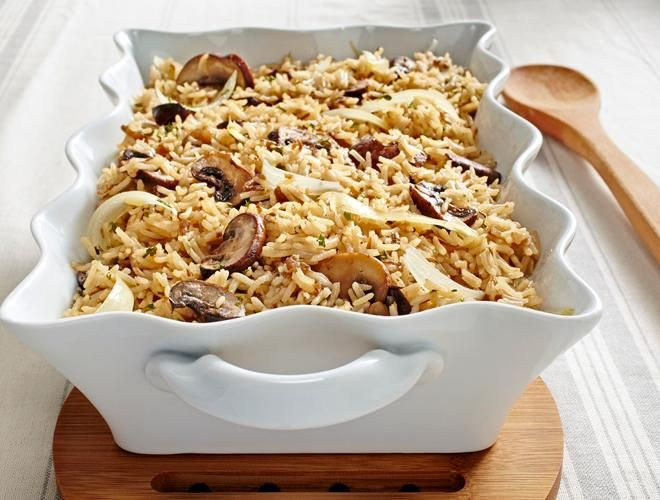 The Recipe File: Super Sides. Oven Rice Pilaf with Mushrooms