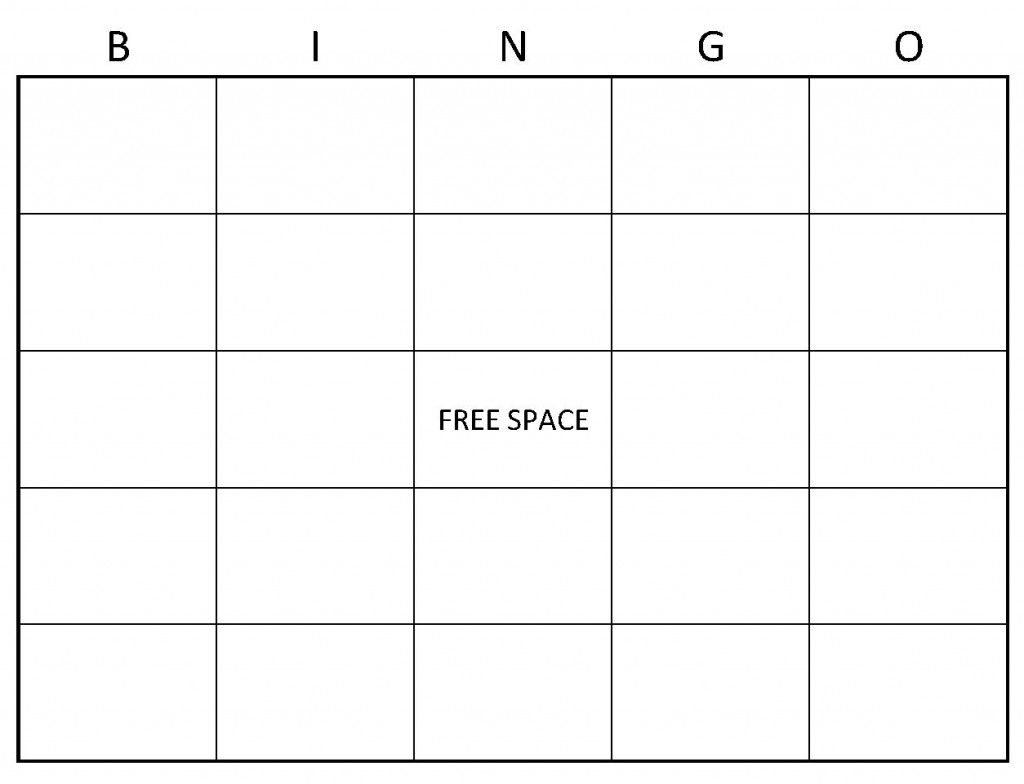 Blank Bingo Cards Example Of Blank Bingo Cards Things To Wear