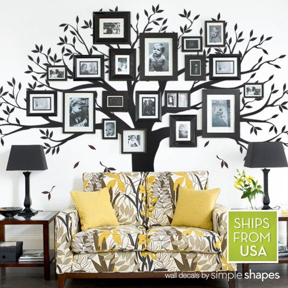 Family tree decal for home and baby nursery by simpleshapes · family tree wall decorfamily