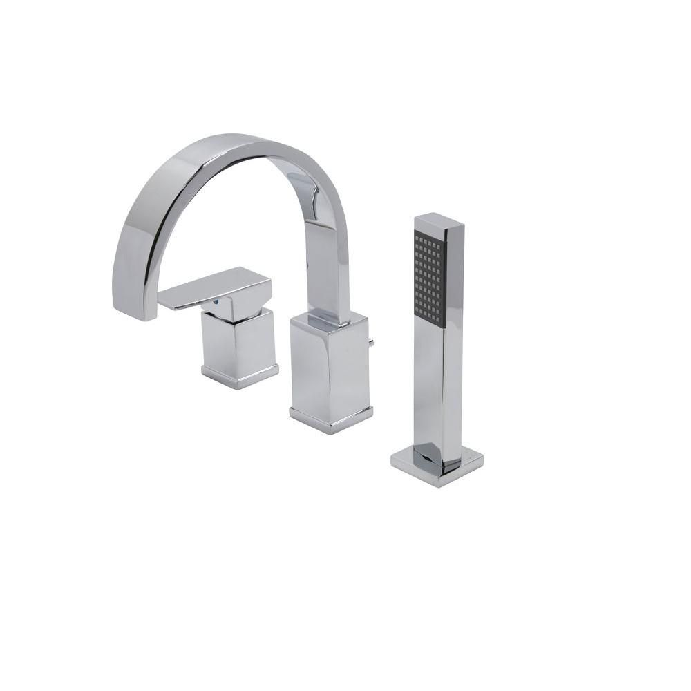 Lovely ANZZI Nite Series Single Handle Deck Mount Roman Tub Faucet With Handheld  Sprayer In