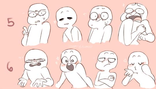 Emotion Drawing Refrence Rostros De Dibujos Animados Bocetos Bonitos Emociones Dibujos
