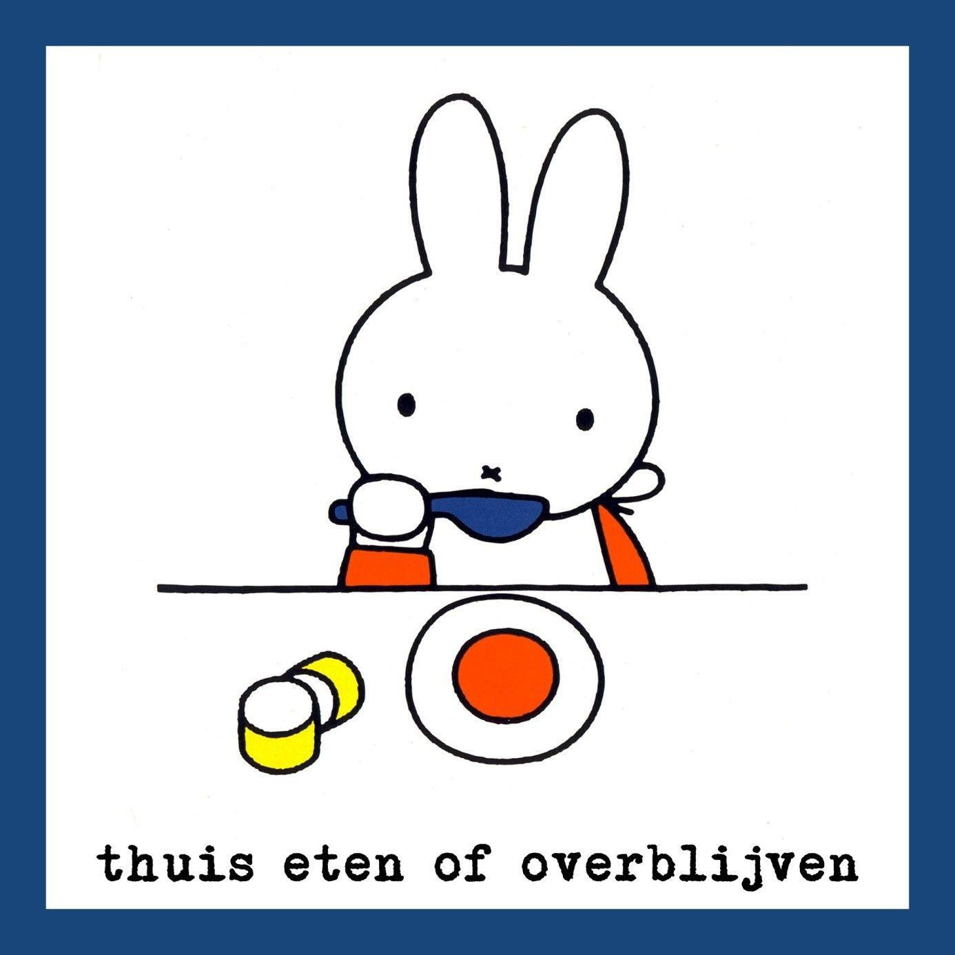 Nijntje Eten En Drinken Pictogram Leuke Tekening Kinderboeken