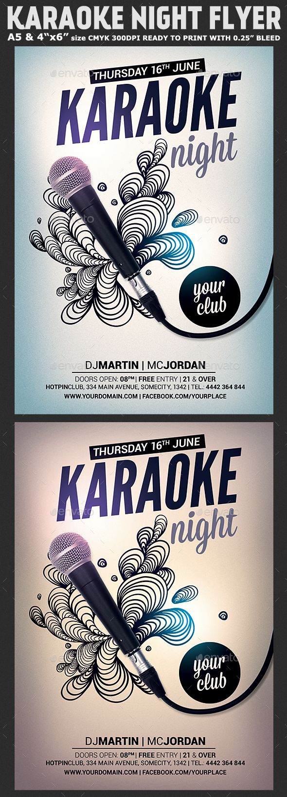Karaoke Night Flyer Template  Flyer Template Karaoke And Party Flyer
