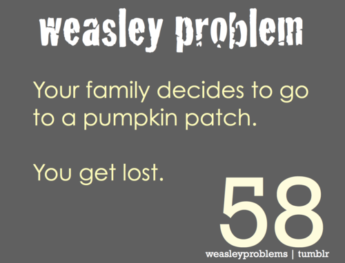 The Weasley's have it tougher than most...