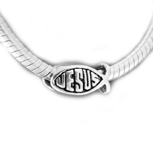 b25caff31 JESUS FISH Bead Sterling Charm Fits Pandora | Sterling Silver Charms ...